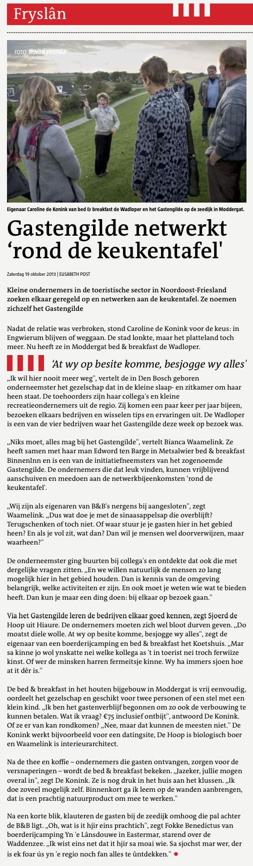 Artikel in de Leeuwarder Courant